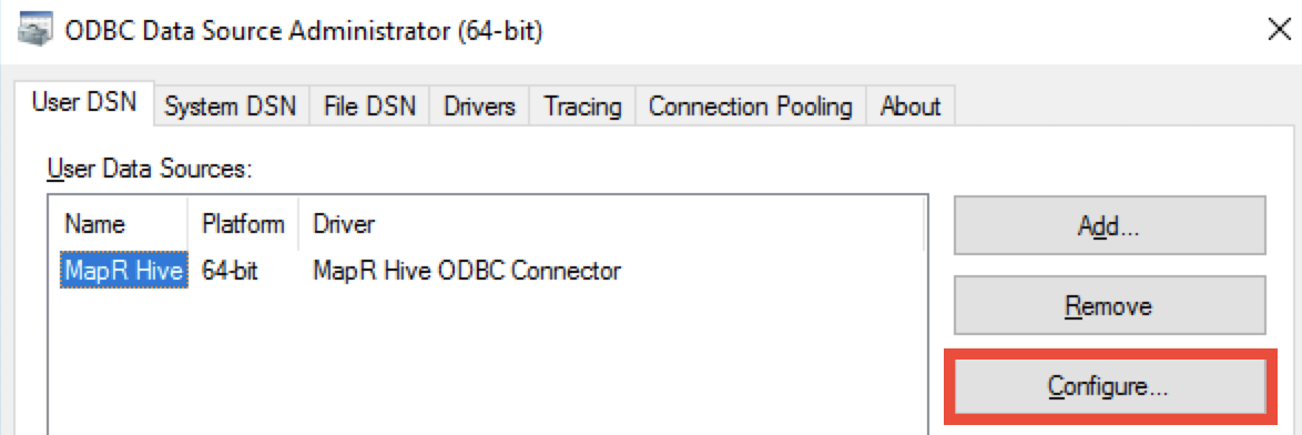 How do I enable debug logging for MapR Hive ODBC driver?
